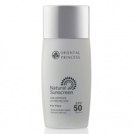 Natural Sunscreen Age Defense UV Protector For Face SPF 50 PA +++