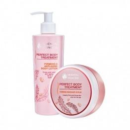 แพ็คคู่ Perfect Body Treatment Firming Anti Aging Body Lotion & Perfect Body Treatment Firming Massage Scrub