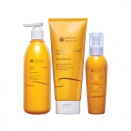 Cuticle Professional Hair Care Shampoo, Cuticle Professional Hair Care Conditioner & Cuticle Professional Hair Care Hair Serum Plus Sunscreen for Damaged Hair