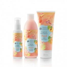แพ็คคู่ Tropical Nutrients Peach Treatment Shampoo & Hair Treatment & Leave on Serum